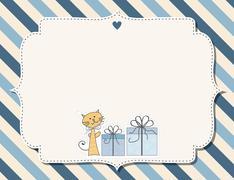 customizable childish background - stock illustration