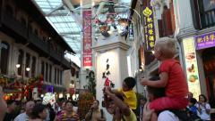 Stock Video Footage of Entertainment representation using quadcopter in Chinatown, Singapore