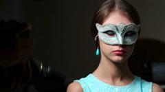 Fashion model in atelier Stock Footage