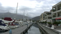 Porto Montenegro Kotor full HD Stock Footage