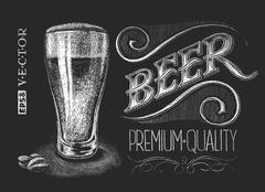 Poster of beer on the chalkboard Stock Illustration