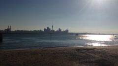 Auckland skyline Stock Footage