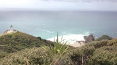 Lookout from Cape Reinga Stock Footage