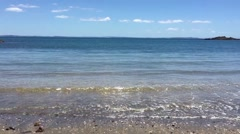Sandy Bay Motutapu Island Auckland Stock Footage