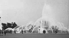 Chicago 1941: Buckingham Fountain Stock Footage