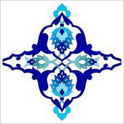 artistic ottoman pattern series eighty one - stock illustration