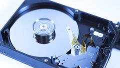 SD card, flash drive harddisk drive spinning changing of technology concept Stock Footage