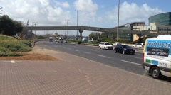Road number 2 Iseael - Herzliya Stock Footage