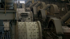 Crushing drums mill Stock Footage