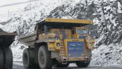 Truck is transporting ore Stock Footage