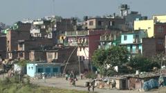 Outskirt of Kathmandu with giant swing,Kathmandu,Nepal Stock Footage