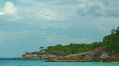 Pan of Ko Miang island, number 4 of Similan Islands Stock Footage
