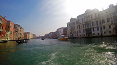 POV of Grand Chanal tour in Venice Italy Stock Footage