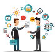Recruitment flat vector illustration Stock Illustration