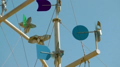 Weather vane weathervane windmill deep blue sky movement.mp4 Stock Footage