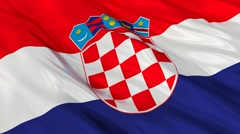 Croatia flag waving. Seamless Stock Footage