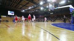 Basketball match (women) Stock Footage