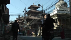 Steet,Patan,Nepal Stock Footage