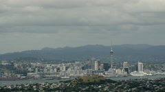 Time lapse from Rangitoto island at Auckland skyline - stock footage