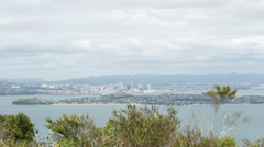 Lookout from Rangitoto island at Auckland, New Zealand Stock Footage