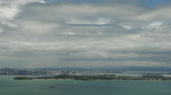 Time lapse from Rangitoto island at Auckland Stock Footage