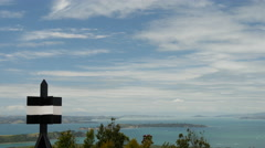 Time lapse from Rangitoto island in New Zealand - stock footage