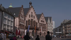Frankfurt's Altstadt Römerburg Square Stock Footage
