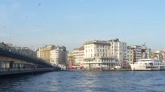 Galata Bridge Istanbul Stock Footage