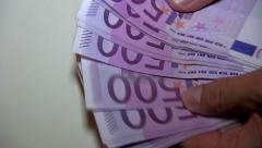 Euro Money transfer Stock Footage