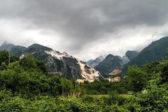 Carrara-marble quarrying Stock Photos