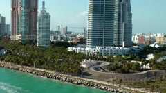 USA Florida Miami 091 special view while pass the Continuum South Beach Stock Footage