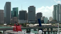 USA Florida Miami 077 skyline of Biscayne Boulevard downtown in special view Stock Footage