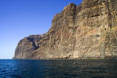 Los Gigantes Cliffs Stock Photos