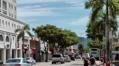 USA Florida Miami 069 Little Havana district SW 8th Street View Stock Footage