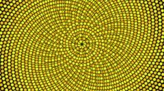 Loopable cyclic animated kaleidoscopic spiral-66B36c-n - stock footage