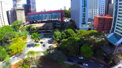 Aerial View from the MASP museum in Sao Paulo, Brazil Stock Footage