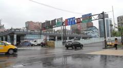 Keelung Street view.HD Stock Footage