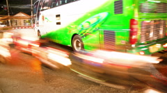 Traffic in the city, with blurred trails time lapse Stock Footage