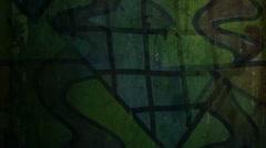 Video motion graffiti contemporary art avant-garde ornament night light moves - stock footage