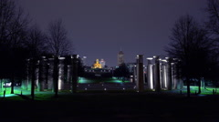 Capital building in Nashville at night from distance Stock Footage
