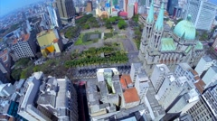 Aerial View of The São Paulo Se Metropolitan Cathedral in Sao Paulo, Brazil Stock Footage