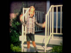 Young boy in bow tie Stock Footage