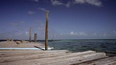Rustic Caribbean Pier Stock Footage