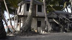 Caribbean decrepit buildings Stock Footage