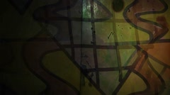 Stock Video Footage of Video motion graffiti   contemporary  art avant-garde ornament night light moves