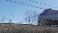Train SideView ungraded - stock footage