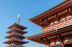 Asakusa Kannon Temple (Also called Sensoji), the oldest temple in Tokyo Stock Photos