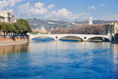 Adige River, Verona Stock Photos