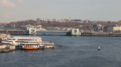 Istanbul historical peninsula view from Golden Horn Stock Footage