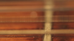 Guitar String vibrating, closeup Stock Footage